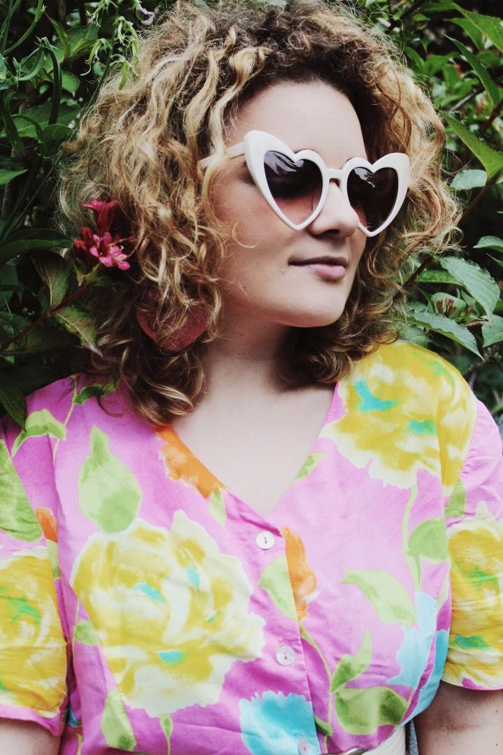 Vintage Sommer Kleid & Catwalkjunkie StatementSonnenbrille